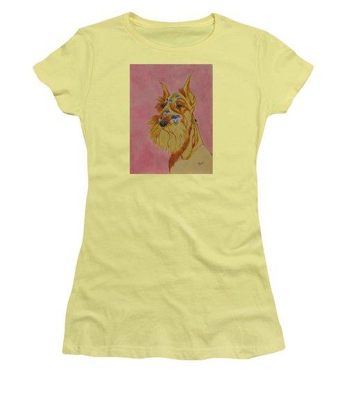 Flower Dog 9 Women's T-Shirt (Athletic Fit)