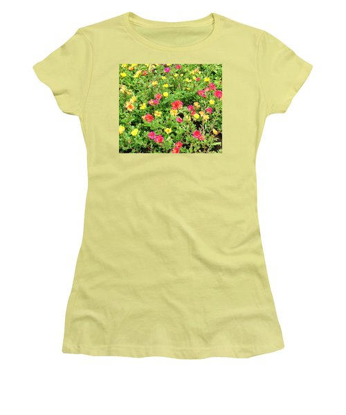 Flower Garden Women's T-Shirt (Athletic Fit)