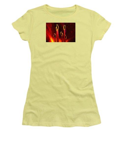 Flower Inside Women's T-Shirt (Junior Cut) by Andre Faubert