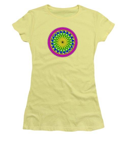 Flower Mandala By Kaye Menner Women's T-Shirt (Athletic Fit)