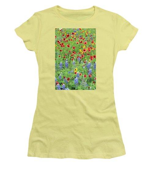 Flower Quilt Women's T-Shirt (Junior Cut) by Joe Jake Pratt