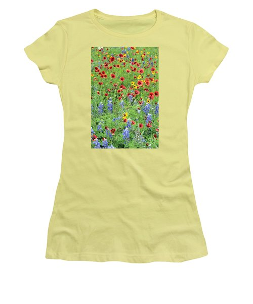 Flower Quilt Women's T-Shirt (Athletic Fit)