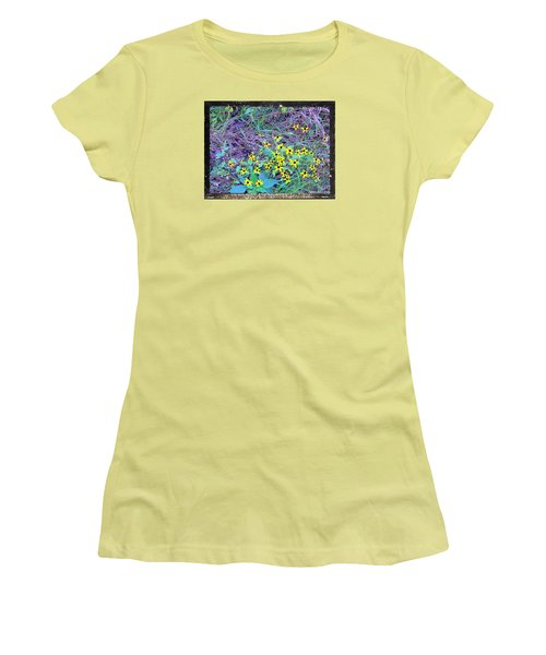 Women's T-Shirt (Junior Cut) featuring the photograph Flowers Gone Wild by Shirley Moravec