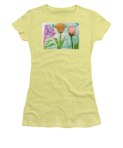 Tulips A'bloom Women's T-Shirt (Athletic Fit)