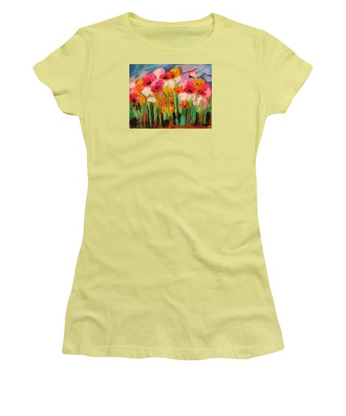 Women's T-Shirt (Junior Cut) featuring the painting Flowers by John Williams