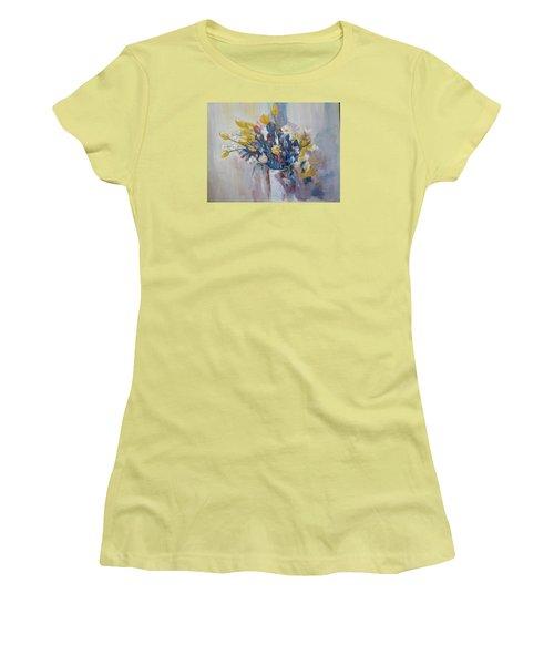 Tulips Flowers Women's T-Shirt (Junior Cut) by Khalid Saeed