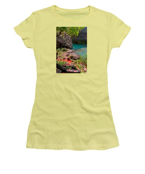 Flowers On Stone Women's T-Shirt (Athletic Fit)
