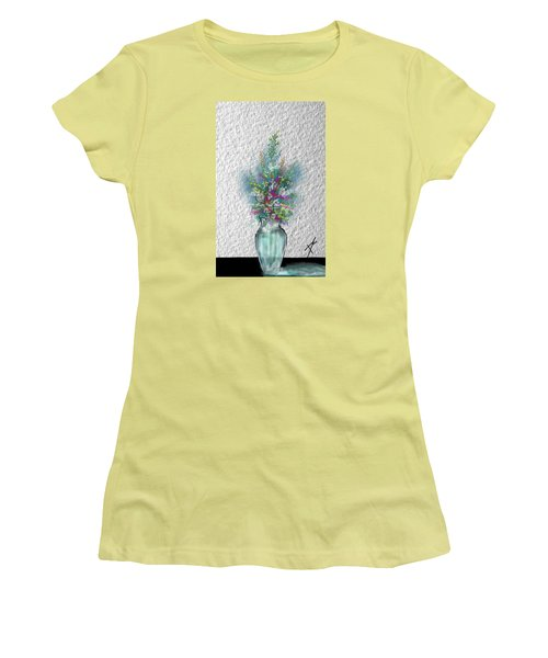 Flowers Study Two Women's T-Shirt (Junior Cut) by Darren Cannell