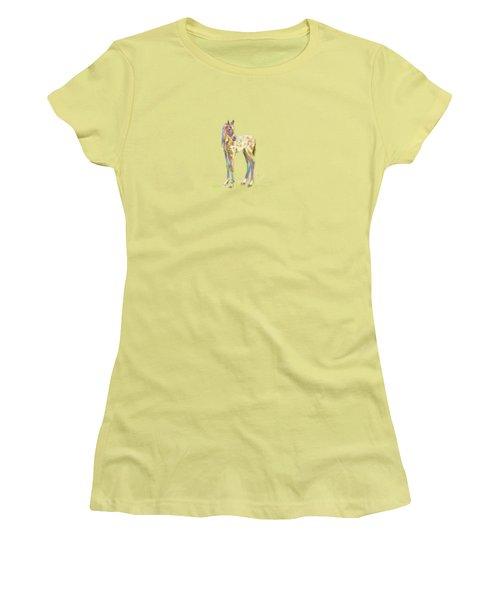 Foal Paint Women's T-Shirt (Athletic Fit)