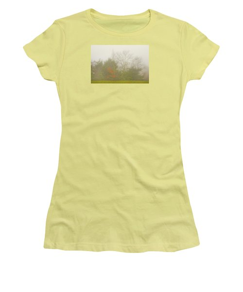 Women's T-Shirt (Athletic Fit) featuring the photograph Fog In Autumn by Wanda Krack