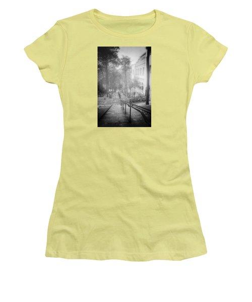 Fog In Montmartre Women's T-Shirt (Junior Cut) by John Rivera