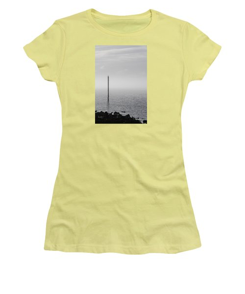 Fog On The Cape Fear River On Christmas Day 2015 Women's T-Shirt (Athletic Fit)