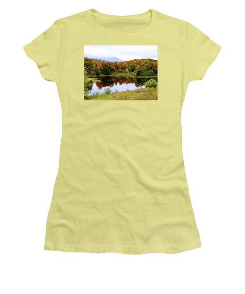 Foggy Day In Vermont Women's T-Shirt (Junior Cut) by Joseph Hendrix