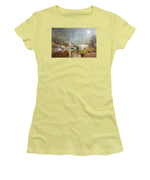 Foggy Fishin Hole Women's T-Shirt (Athletic Fit)