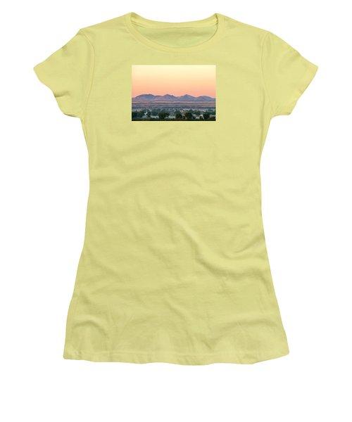 Foggy Harlem Bottom Women's T-Shirt (Junior Cut) by Todd Klassy