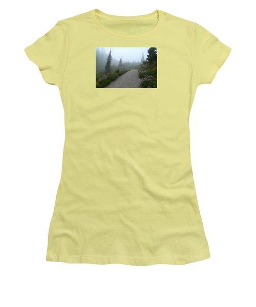 Women's T-Shirt (Junior Cut) featuring the photograph Foggy In Paradise 2 by Lynn Hopwood