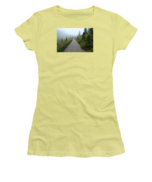 Women's T-Shirt (Junior Cut) featuring the photograph Foggy In Paradise by Lynn Hopwood