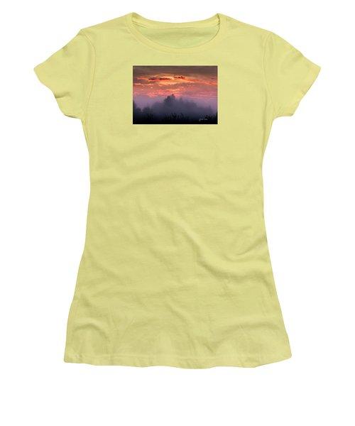 Foggy Mist At Dawn Women's T-Shirt (Junior Cut) by E Faithe Lester