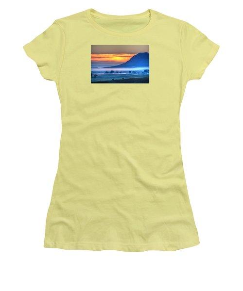Foggy Morning Women's T-Shirt (Junior Cut) by Fiskr Larsen