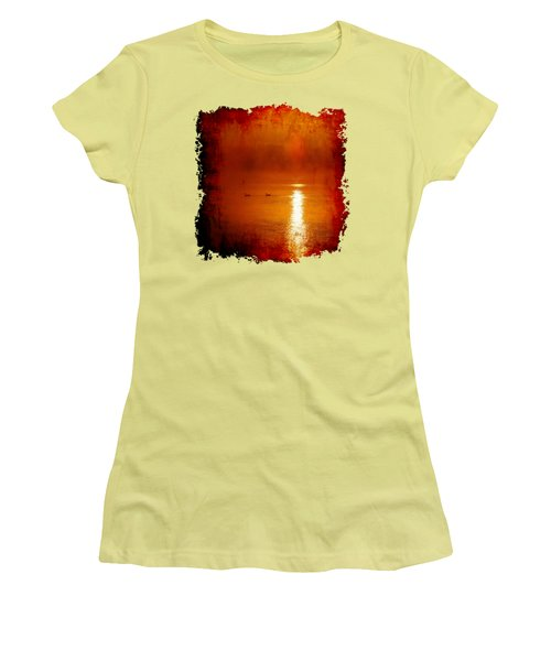 Foggy Morning On The River Women's T-Shirt (Junior Cut) by Nick Kloepping