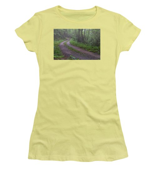 Foggy Road Women's T-Shirt (Junior Cut) by David Cote