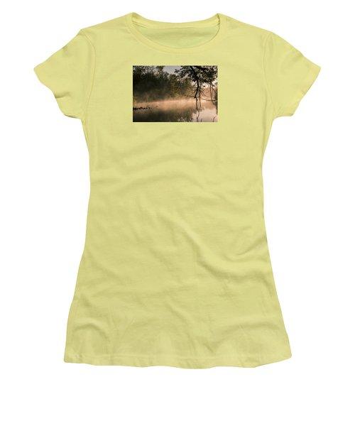 Foggy Water Women's T-Shirt (Junior Cut) by Annette Berglund