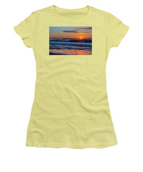 Folly Beach Sunrise Women's T-Shirt (Athletic Fit)