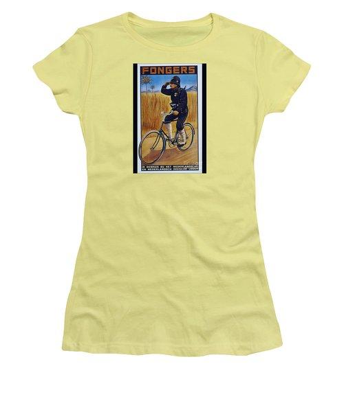 Fongers In Gebruik Bil Nederlandsche En Nederlndsch Indische Leger Vintage Cycle Poster Women's T-Shirt (Junior Cut) by R Muirhead Art