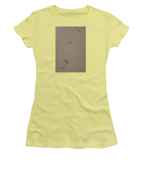 Footprint Women's T-Shirt (Junior Cut) by Heidi Poulin