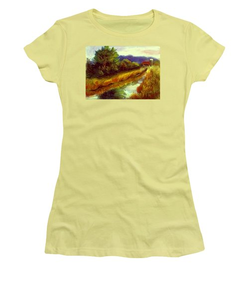 Women's T-Shirt (Junior Cut) featuring the painting For A Thirsty Land by Gail Kirtz