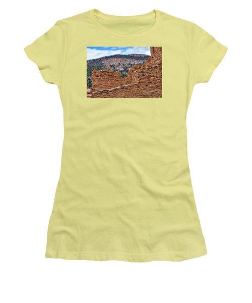 Forbidding Cliffs Women's T-Shirt (Junior Cut) by Alan Toepfer
