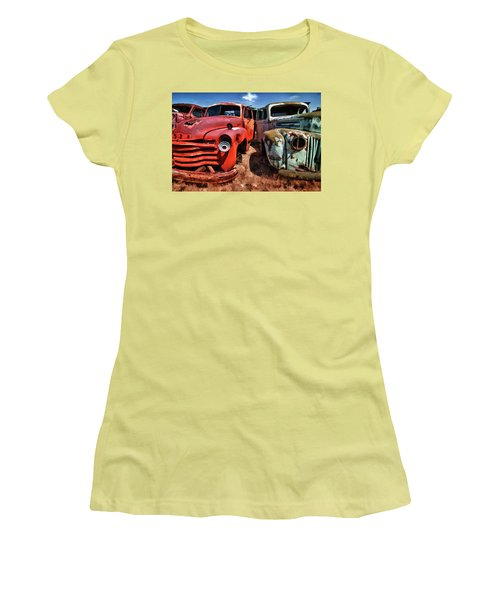 Ford And Chevy Standoff Women's T-Shirt (Athletic Fit)