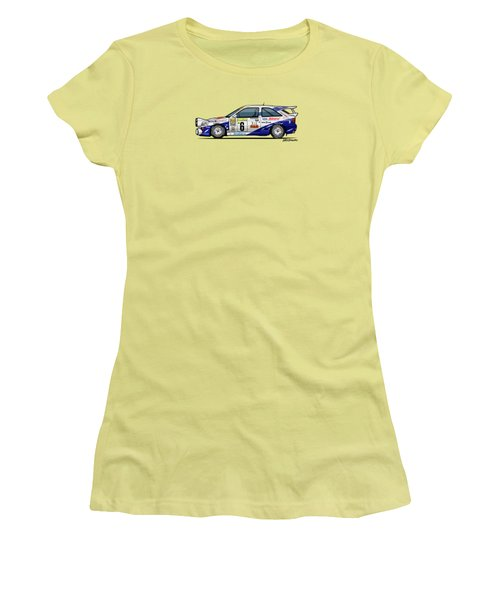 Ford Escort Mk5 Rs Cosworth Group A Rally Monte Carlo 1994 Women's T-Shirt (Athletic Fit)