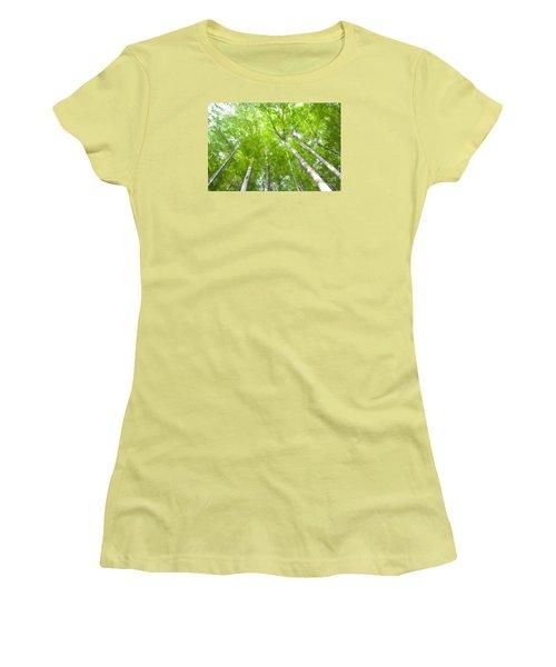 Women's T-Shirt (Junior Cut) featuring the photograph Forest 1 by Jean Bernard Roussilhe