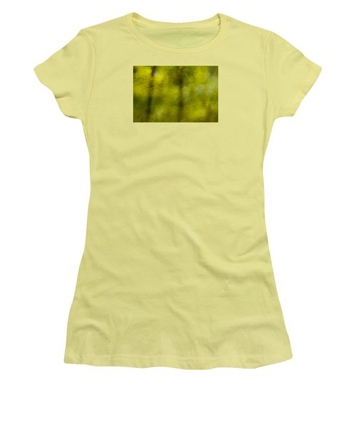 Forest Abstract Reflection Women's T-Shirt (Athletic Fit)