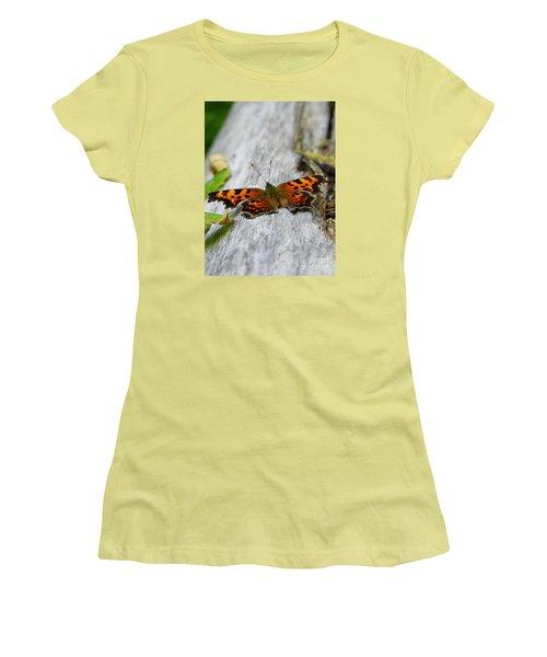 Forest Fritillary Women's T-Shirt (Junior Cut) by KD Johnson