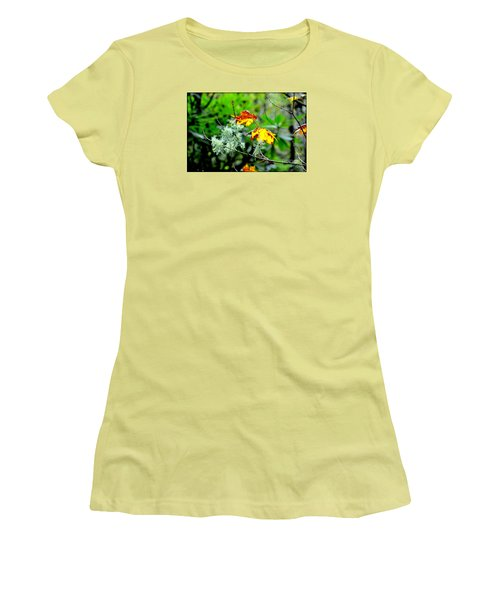 Women's T-Shirt (Junior Cut) featuring the photograph Forest Little Wonders by Tanya Searcy