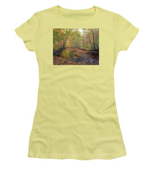 Forest River In Early Fall Women's T-Shirt (Athletic Fit)