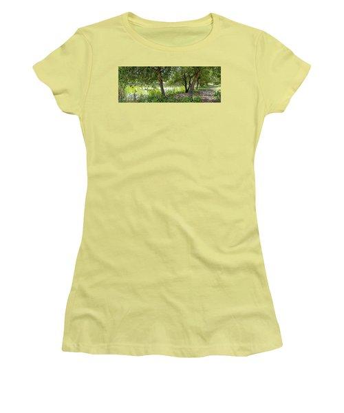 Forest Trail Women's T-Shirt (Junior Cut) by Arik Baltinester