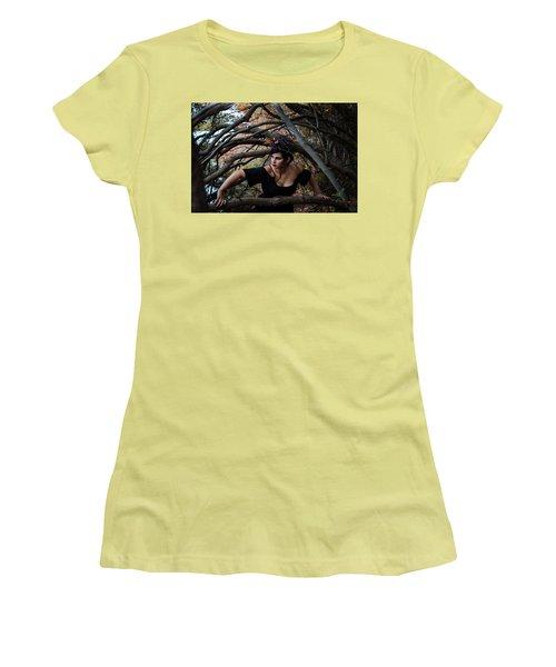 Forest Witch Women's T-Shirt (Junior Cut) by Stefanie Silva