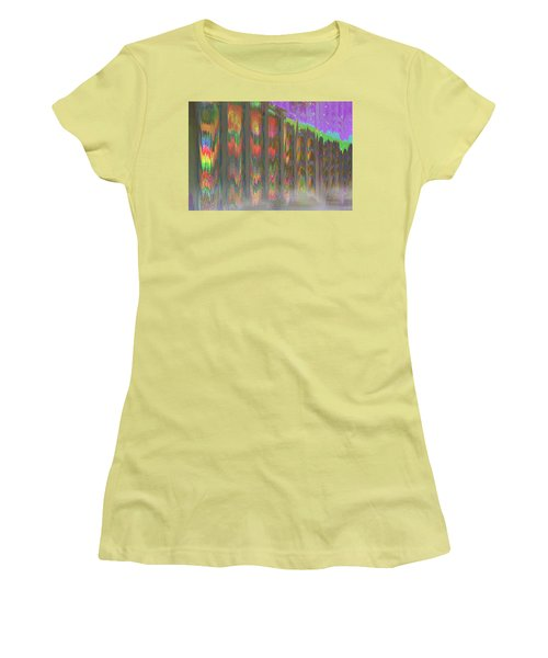 Women's T-Shirt (Athletic Fit) featuring the digital art Forests Of The Night by Wendy J St Christopher