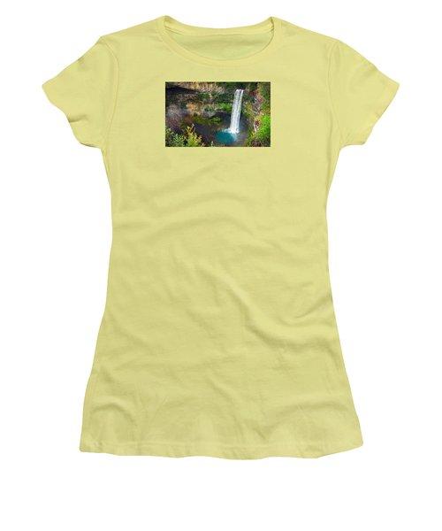 Brandywine Falls, Bc Women's T-Shirt (Junior Cut) by Heather Vopni