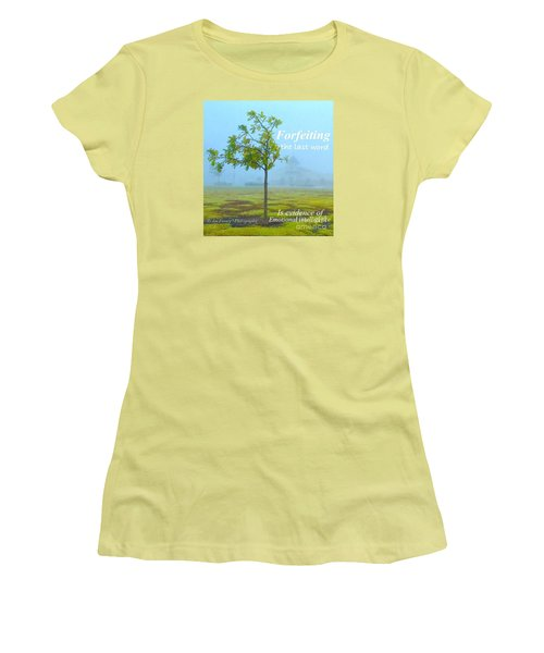 Women's T-Shirt (Junior Cut) featuring the photograph Forfeiting Last Word - No.2015 by Joe Finney