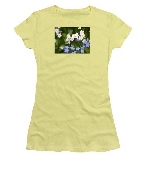Forget Me Nots Women's T-Shirt (Junior Cut) by Jouko Lehto