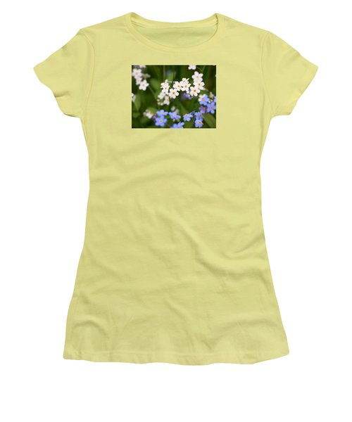 Forget Me Nots Women's T-Shirt (Athletic Fit)