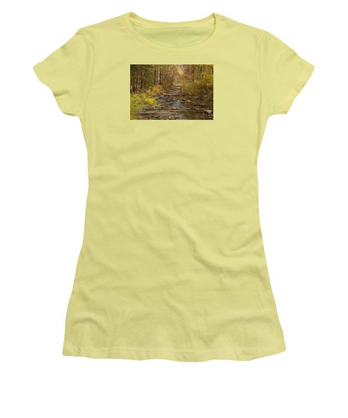 Fork River Ablaze In Color Women's T-Shirt (Athletic Fit)