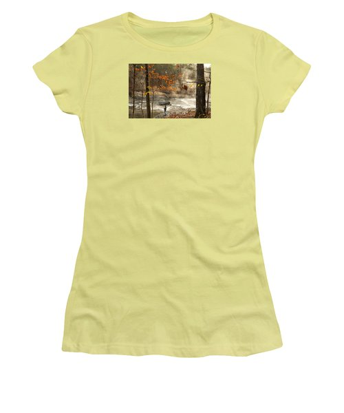 Fork River In Fall Women's T-Shirt (Athletic Fit)
