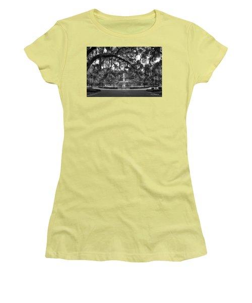 Forsyth Park Fountain 2 Savannah Georgia Art Women's T-Shirt (Athletic Fit)