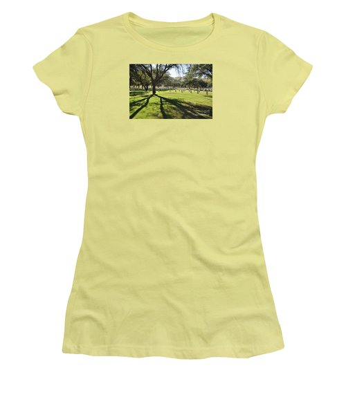Women's T-Shirt (Junior Cut) featuring the photograph Fort Huachuca Post Cemetery by Gina Savage