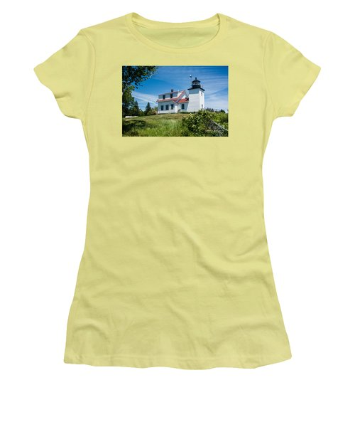 Fort Point Lighthouse  Stockton Springs Me 2  Women's T-Shirt (Athletic Fit)